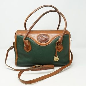 Vintage Dooney & Bourke Classic Satchel Pine Tan